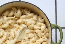 food : pasta + mac and cheese