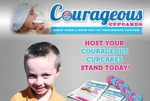"""Courageous Cupcake Stands by the Jessie Rees Foundation / Courageous Cupcakes is a community fundraiser supporting the Jessie Rees Foundation and kids fighting cancer.  The Stands are a fun and delicious way to help take a bite out of cancer, and are great to do at school, home, in churches or with clubs and teams! Go to www.negu.org/cupcakes to get your free starter kit. Then just """"add love and stir!"""""""