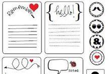 Palavras, fontes, desenhos