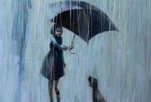 Guarda-chuvas e sombrinhas