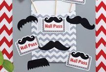 """Mustache Mania / Mustache Mania has taken over! You'll find it on everything from home decor and stationary to clothing and shoes. Our newest decor bring this hairy trend to the classroom in a fan""""stache""""tic way!"""