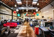 OFFICE INSPIRATION / At Scooperz we love inspiring offices. Our office is great but these spaces are too!!