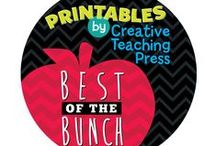"Creative Teaching Press Printables / We make learning fun–and teacher's lives easier–one activity at a time! These printables are the ""best of the bunch!"" http://www.teacherspayteachers.com/Store/Creative-Teaching-Press-Printables"