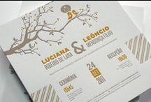 Convites de Casamento / Carimbo Letterpress / Convites de Casamento - impressão em Letterpress
