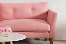 spring sofas / Lighthearted colors that invoke warmer temperatures, blooming blossoms and happy times. / by Article