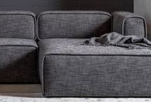 modular sectional / Introducing the new Quadra sectional! Perfect for the contemporary home. This collection is now available in three sophisticated, durable fabrics. Deep, medium-firm supportive seats and thick piping make this collection both comfortable and long-lasting. / by Article