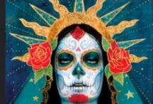 Halloween / Ideas for Halloween costumes and makeup. Sugar skulls, foxes, wolves and more outfits.