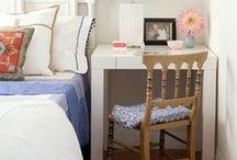 Tiny bedroom / If you have a tiny bedroom here's how to make it beautiful and functional using interior design ideas.