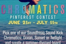 Chromatics Summer Fun Contest (now closed) / Congrats to @Mimitanaka our contest winner! Please message us on Facebook with your mailing address.  We *also* decided to pick a runner up: congrats @spinsugar! Please msg us on Facebook with your mailing address.   Thanks to everyone who participated!  ++++  Pick one of our Soundfreaq Sound Kick Chromatics: Ocean, Sunset or Twilight and create a summer-themed board inspired by its colors. The winner will receive a Chromatics speaker that inspired their board AND also one to give to a friend! / by Soundfreaq