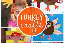 THANKSGIVING -- Crafts / Thanksgiving can be about food and recipes, but don't forget about showing the kids how to be thankful with some craft ideas. They can also be used for Fall decor throughout the house.