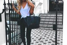 Style Inspo / Black, Grey, White, Cream, Brown and pastel colours.