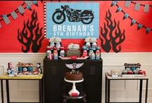 Boy's Dirtbike / Motorcycle Party / motocross | motorcycle | bmx | dirtbike | boy | birthday | party | ideas | cake | decorations | themes | supplies | favor | invitation | cupcakes | cakepops,   / by Spaceships and Laser Beams