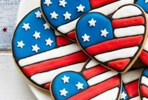 Boy's 4th of July / Memorial Day Party Ideas, Recipes and Crafts / Fourth   July   May   Memorial   celebration   America   USA   boy   birthday   party   ideas   cake   decorations   themes   supplies   favor   invitation   cupcakes   cookies   cakepops   crafts
