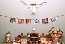 Boy's Cowboy/Western Party / cowboy | western | horse | boy | birthday | party | ideas | cake | decorations | themes | supplies | favor | invitation | cupcakes  / by Spaceships and Laser Beams