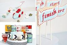 Boy's Vintage Car/Truck Party / vintage | race | car | boy | birthday | party | ideas | cake | decorations | themes | supplies | favor | invitation | cupcakes| cake pops | trucks  / by Spaceships and Laser Beams
