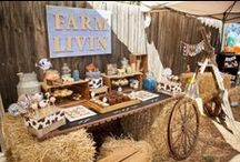 Farm/Tractor Party Ideas, Recipes, and Crafts / farm   boy   birthday   party   ideas   cake   decorations   themes   supplies   favor   invitation   cupcakes