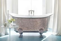 Bathrooms to Inspire / Bathroom Inspiration: tiles, tubs, fixtures, countertops, decor.