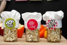 Boy's Little Chef Party / little   chef   boy   birthday   party   ideas   cake   decorations   themes   supplies   favor   invitation   cupcakes