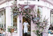 s h o p s / shops, restaurants and shop windows.