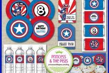 Captain America Party Ideas / Captain America Party Ideas   Captain America Birthday Party   Captain America DIY Party