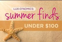 LUX Finds Under $100!  / LUX-o'nomics: Fabulous finds under $100