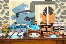 Boy's Police Detective/Secret Agent Birthday Party / police   detective   secret   spy   agent   fbi   boy   birthday   party   ideas   cake   decorations   themes   supplies   favor   invitation   cupcakes