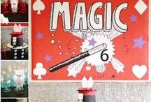 Boy's Magic Themed Birthday Party / magic   boy   birthday   party   ideas   cake   decorations   themes   supplies   favor   invitation   cupcakes