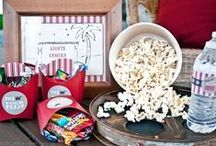 Boy's Lights Camera Action Party / movie   lights   camera   popcorn   theatre   action   boy   birthday   party   ideas   cake   cakepops   decorations   themes   supplies   favor   invitation   cupcakes
