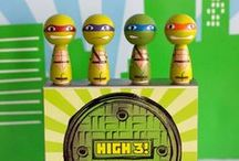 Boy's Teenage Mutant Ninja Turtles Party / boy   birthday   party   ideas   cake   decorations   themes   supplies   favor   invitation   cupcakes   teenage mutant ninja turtles
