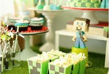 Boy's Minecraft Party / minecraft | boy | birthday | party | ideas | cake | decorations | themes | supplies | favor | invitation | cupcakes   / by Spaceships and Laser Beams