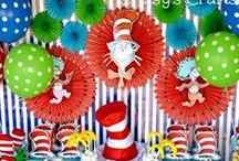 Boy's Dr. Seuss Party / Dr. Seuss   cat    hat    boy   birthday   party   ideas   cake   decorations   themes   supplies   favor   invitation   cupcakes   cakepops