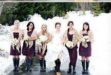 Winter Weddings / Inspiration for Northwest winter weddings, and rainy days. Ideas to make your wedding photos still be great outdoors in winter weather.