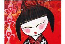 MOÑECAS ilustraciones muñecas / muñecas ilustradas sobre lienzo, personalizadas como tu quieras,  en www.mondogominolo.com Ilustración / Retrato  / Arte Ilustration / Portrait / Art