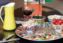 Lazy Susans / French Bull's unique use of color and print take any table from blah to awe!