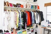 Closets / I love clothes and love keeping them in a beautiful home. Closet, vanity, and laundry room designs