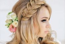 wedding: long and natural hair styles / inspiration for long styles
