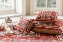Kilim & Rug creations / Add colour, texture and warmth to your home whether it's globally or traditionally inspired. Find more kilim rugs and cushions online at www.myakka.co.uk.  / by Myakka