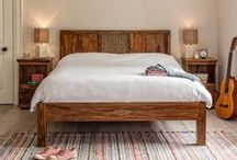 Beautiful Bedrooms / Fair trade furniture for your bedroom to evoke peaceful slumbers. Sustainable wood, ethically sourced, handcrafted by skilled artisans into solid wood furniture pieces that will last a lifetime.
