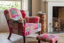 Unique Upholstered Furniture / Bold is beautiful! Discover eclectic & individual upholstered furniture brimming with kaleidoscopic colour! Handcrafted on solid wood frames by our artisan friends in India.