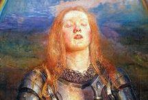 Juana de Arco / Representaciones artísticas de la Dama de Orleans.