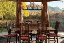 DINING ROOMS / The perfect dining room for the Western style home, or log home. . .and don't forget the cabin!