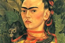 FRIDA KAHLO / Artist, feminist, Marxist and fashion icon Frida Kahlo had a huge impact on world culture.  Her personal style was as vibrant as the colors in her paintings.  Here are some of our favorite moments in her life, and some of our favorite works of her art.