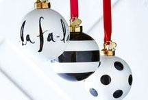 One Fa La La at a Time / Deck the halls and such. Christmas decor, ornaments, trimmings, etc.