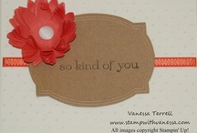 Stamp with Vanessa / Projects from my blog using Stampin' Up! products. / by Vanessa Terrell - Stampin' Up! Demonstrator