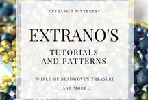 Extrano's tutorials and patterns / Beading tutorials and patterns created by Extrano! All tutorials and patterns are available in my Etsy store:  https://etsy.com/shop/EXTRANO