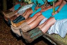 Western Wedding Boots / Cowboy boots and cowgirl boots for western weddings. Show off your country wedding roots in a fancy pair of western boots for brides, bridesmaids, grooms, the best man, father of the bride, and anyone who wants a little western kick in their wedding march!