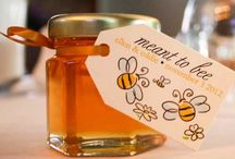 """Wedding Favor Ideas / Sharing a love that's """"sweeter than honey"""" is cause for celebration. That's why your guests will love every part of your wedding, especially the personalized jar of wildflower honey you'll be giving them. Our natural honey is the unique wedding favor you've been searching for. Adding this sweet touch to your special day will give your guests something to buzz about & will be a gourmet gift that they will enjoy long after you've left for your honeymoon."""