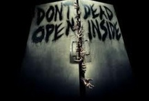"""""""Don't open. Dead inside."""" (The Walking Dead) / """"We do what we need do & then we get to live. But no matter what we find in DC, I know we'll be okay. Because this is how we survive. We tell ourselves... that we are the walking dead."""" / by Nathaniel Richmond"""