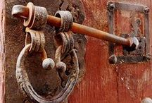 """Keys and Door handles / """"A very little key will open a very heavy door.""""  ― Charles Dickens,  / by European Antiques"""