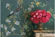 "Interior Design | Chinoiserie / ""I'm crazy for anything Chinoiserie, but you can't have everything black and painted with birds and pagodas."" Los Angeles interior designer Joe Nye"